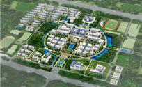 校园景观规划鸟瞰图