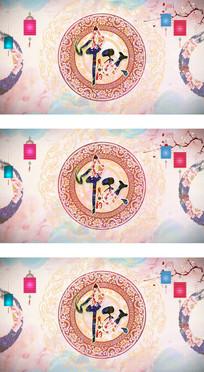 中国风矢量中秋节主题视频背景