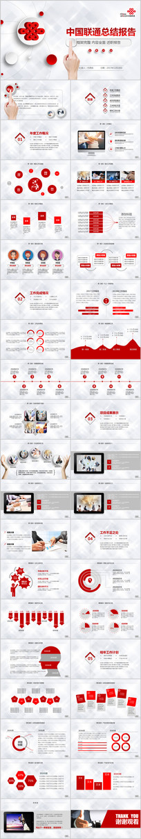 中国联通通讯工作总结PPT