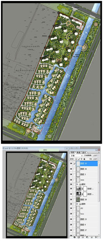 滨湖小区彩色平面图PSD