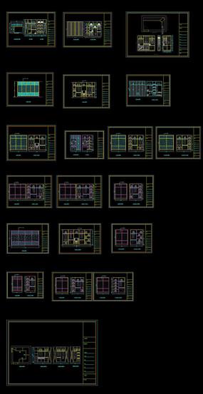 多款衣柜CAD图纸