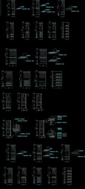高20m衣柜模块施工图 dwg