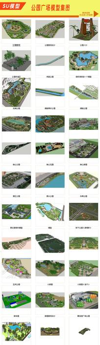 广场景观绿化模型设计