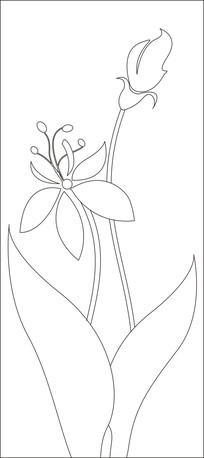 简约典雅花朵雕刻图案