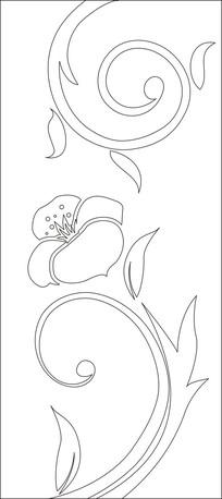 简约一朵花雕刻图案
