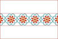 锦团花簇移门图案 CDR