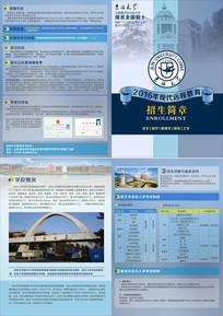 蓝色简约大学招生简章设计