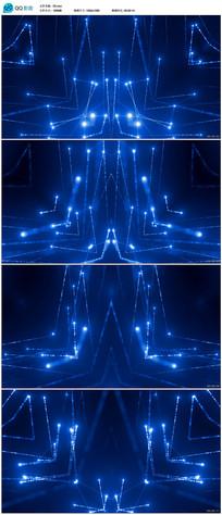 蓝色粒子光线LED视频素材