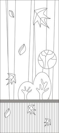 落叶归根雕刻图案