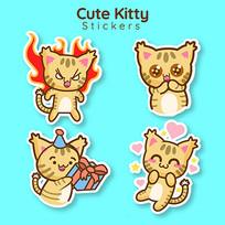 美工劳动可爱的猫咪插图