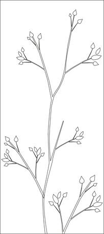 梅花含苞待放雕刻图案