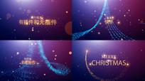 圣诞节文字片头AE模版