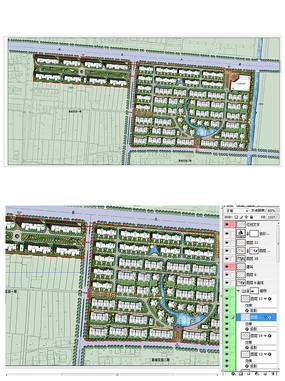 小区整体规划彩色PSD平面图