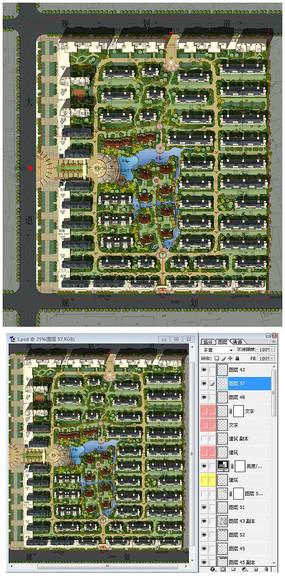 小区整体规划彩色平面图