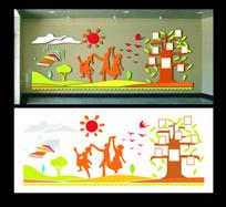 校园学习文化建设立体墙体设计
