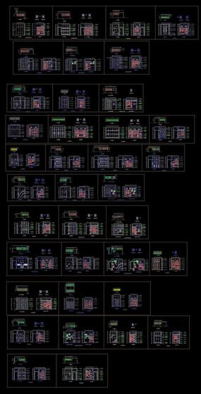 整木衣柜CAD施工图