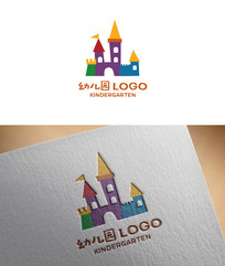 城堡形态幼儿园logo