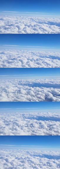 高空白云变化美景实拍视频