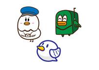 鸽子信鸽创意形象插画