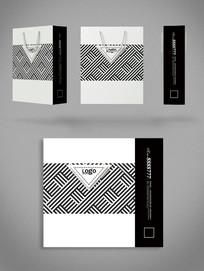 黑白时尚商务通用手提袋设计