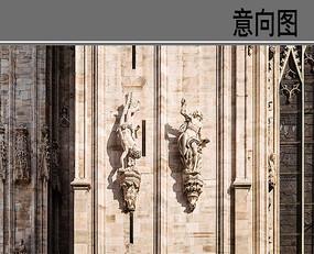 欧式人像建筑装饰