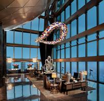 深圳京基瑞吉酒店办公室夜景
