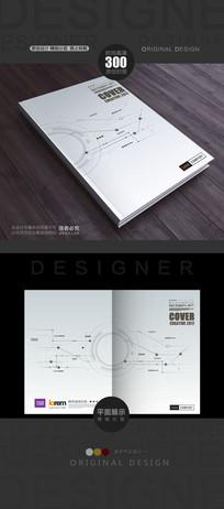 手绘抽象科技线形封面
