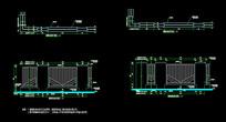 完整围墙施工图 CAD