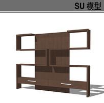 现代大厅书柜