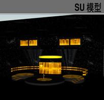 演出演唱会舞台SU模型