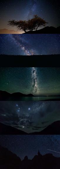 璀璨夜色星空银河系时间流逝视频