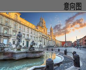 意大利广场景象