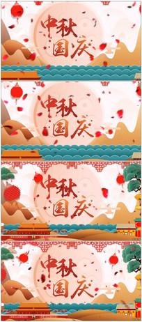 国庆中秋mg动画展示AE模板