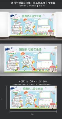 小清新风图图幼儿园宣传展板