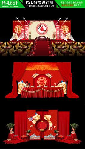 中国风牡丹中式主题婚礼设计