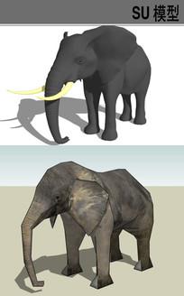 3D动物大象SU模型