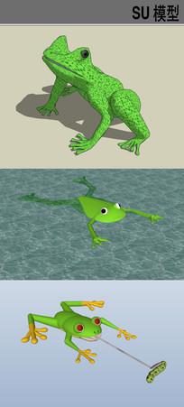 3D动物青蛙SU模型合集 skp