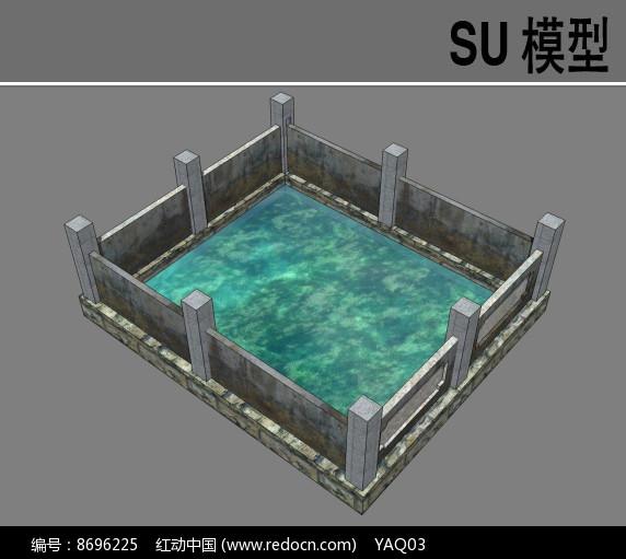 自然水池总平面图