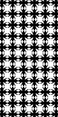 黑白艺术花纹图案