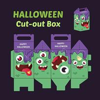 卡通表情食品包装盒设计模板