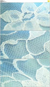 蓝色的布纹理实拍视频素材