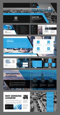 蓝色时尚企业画册