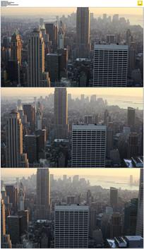 曼哈顿都市高楼实拍视频素材