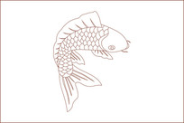 年年有鱼雕刻图案
