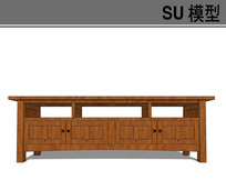 日式电视柜模型
