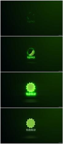 闪光描边光效LOGO片头动画视频