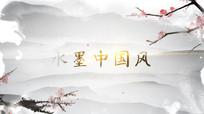 水墨中国风片头标题logo视频