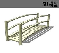 庭院小桥SU模型