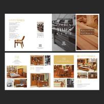 现代实木家具四折页