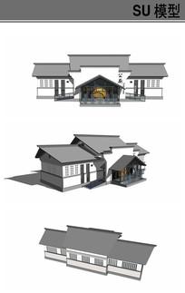 新中式精致厕所模型